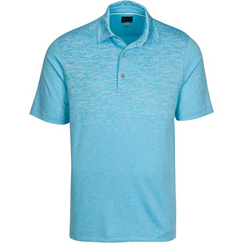 Greg Norman Equinox Polo, Breeze Blue Heather, Medium