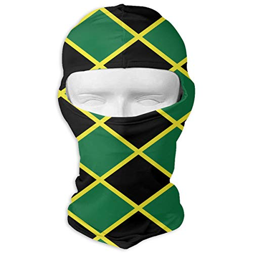 Leopoldson Jamaican Flag Stripe Caribbean Island Balaclava UV Protection Windproof Ski Face Masks for Cycling Outdoor Sports Full Face Mask Breathable]()