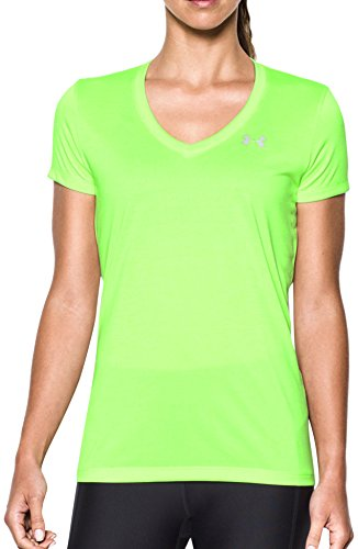 Lime Twist (Under Armour Women's UA Tech¿ Twist V-Neck Quirky Lime Small)