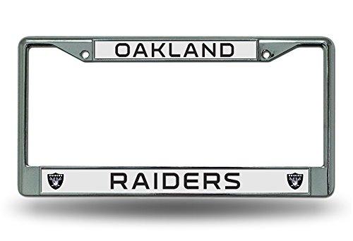 - NFL Oakland Raiders Chrome Licensed Plate Frame