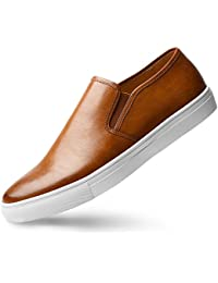 Men's Sneaker Slip On Loafer - Fashion Leather Shoes