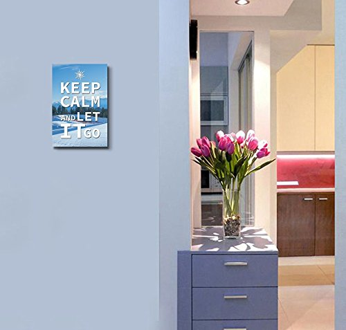 Keep Calm and Let it Go Wall Decor Stretched