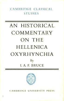 An Historical Commentary on the Hellenica Oxyrhynchia (Cambridge Classical Studies)