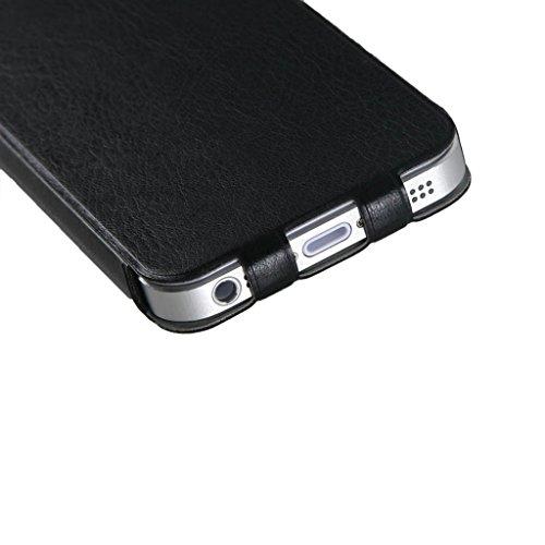 Apple Iphone SE 5/5S flip case, JNTworld (le cas le plus mince au monde) 1 mm ultra couverture de caisse de cuir PU mince blanc Housse en cuir PU