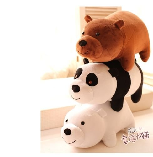 3pcs Cute We Bare Bears Gift Custom NEW TV Show Plush Toy Doll 10