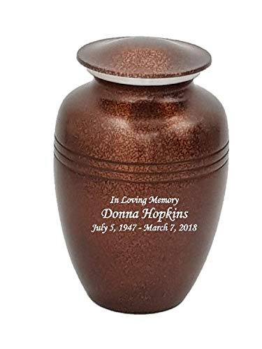 (NWA Custom Cremation Urns, Extra Large Funeral Urn, Human Companion Urn, Personalized Urns)