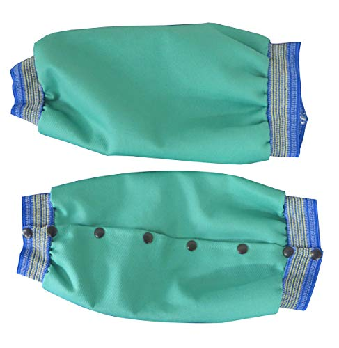 Chicago Protective Apparel One Size Fits All Green 11 Ounce Whipcord Blue/Gold Elastic Top And Bottom Leggings With Snap Closure ()