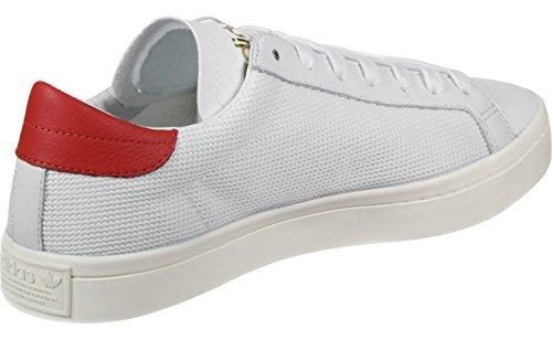 adidas Courtvantage, Zapatillas de Deporte para Hombre Blanco (Ftwbla / Ftwbla / Rojo)