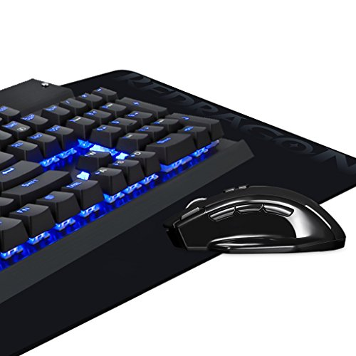 Eagletec Gaming Mechanical Keyboard Wireless Mouse Pad Combo Kg010 Ba Led  NEW 3