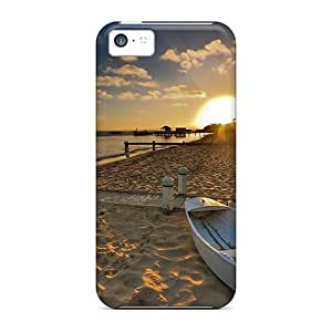 Tpu Case For Iphone 5c With Sunrise On Sleepy Beach