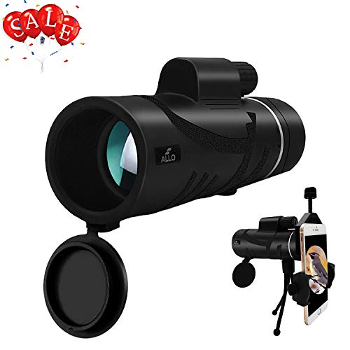 r HD Monocular Telescope, Low Night Vision Monocular for Adults with Phone Adapter and Tripod - Bird Watching, Hunting, Camping, Traveling, Outdoor Sports ()