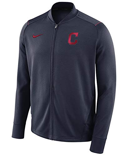 Nike Cleveland Indians Dry Knit Full-Zip Track Performance Jacket (Small)