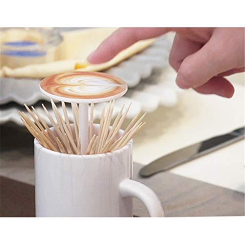 Euone Creative Coffee Cup Toothpick Tube Household Toothpick Box Convenient ()