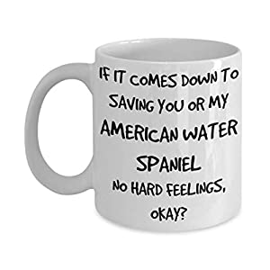 Funny American Water Spaniel Mug - White 11oz 15oz Ceramic Tea Coffee Cup - Perfect For Travel And Gifts 18