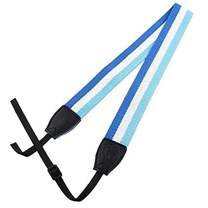 eDealMax SHETU cámara autorizado antideslizante hombro Correa Para el Cuello Blanco del Cielo Azul Para DSLR