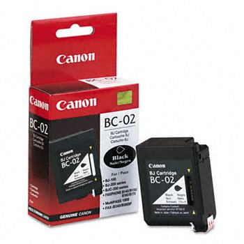 Bc 02 Black Cartridge - Canon® BC02, DT0881A003 Inkjet Cartridge INKCART,BC-02,BK 675900 (Pack of2)
