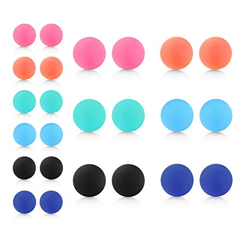 D.Bella Mix Color Rubber UV Acrylic Replacement Balls Retainer Piercing Barbell Parts 14G 5mm 8mm Balls for Women Men (Barbell 5 8 14g In)