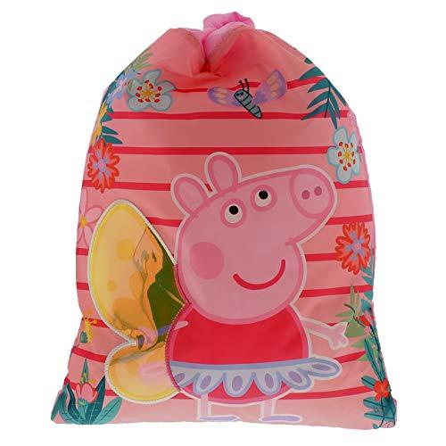 (Peppa Pig Beatiful Drawstring School Kids Children Pe Gym Trainer Bag)