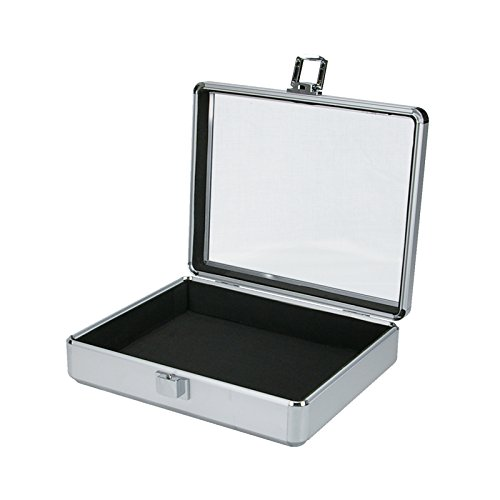 SRA Cases EN-AC-FG-C106 Clear Lid Aluminum Hard Case, 10.6 x 8.6 x 2.75
