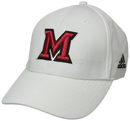 Miami Ohio Redhawks Baseball (NCAA Miami (Ohio) Redhawks Men's Structured Adjustable Cap, One Size, White)