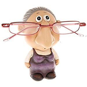 SHJ Comic Novelty Old Lady Crinklies Specs/Eyeglass Holder Ornament SC849 by The Olivia Collection