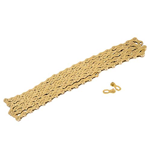 (TH-OUTSP 11 Speed Mountain Bike Road Bicycle Parts Gold Golden Chain for Parts K7 System )