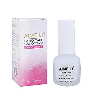 Aimeili Liquid Latex Peel Off Tape Odorless Cuticle Guard Polish Barrier Skin Protector For Nail Art 15 Ml 0.5 Fl OZ
