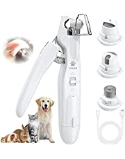 VOLUEX Dog Nail Grinder, Upgraded 2-in-1 Dog Nail Clippers Electric Pet Nail Trimmer with LED Light, Professional Safe Paws Grooming & Smoothing for Large, Medium, Small Dogs & Cats