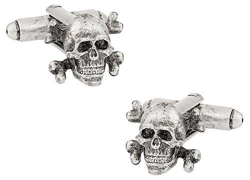 Cuff-Daddy Skull & Crossbones Cufflinks with Presentation Box