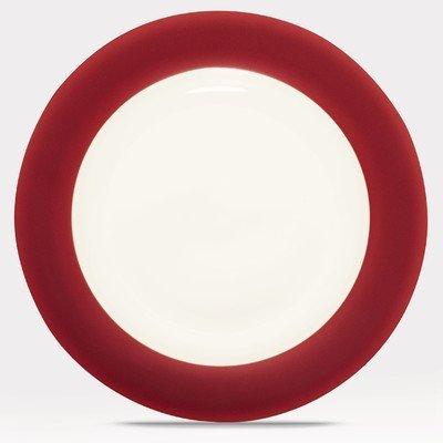 Noritake Colorwave Raspberry Rim Dinner Plate by Noritake Colorwave Raspberry Dinner Plate