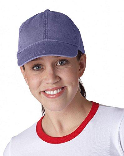 Adams Optimum Pigment-Dyed Cap Purple (Twill Pigment Dyed Solid Cap)