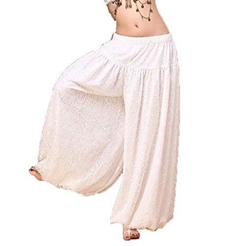 Pantaloni Da amp;x Di Bianca Pizzo Danza C Ventre Del Allenamento 5BxqgYqn