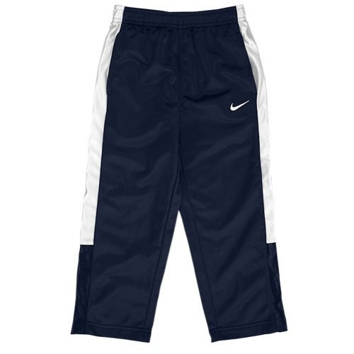 Nike Little Boys' Athletic Track Pants Navy Blue/White (2T) by NIKE