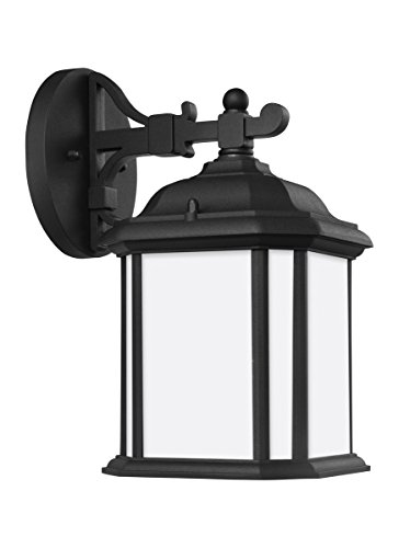Sea Gull 84529-12 Kent Outdoor Wall Sconce, 1-Light 100 Watts, Black ()