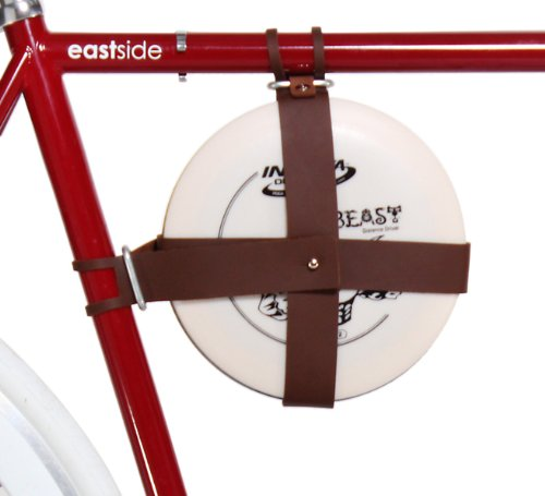 Fyxation Leder Fahrrad Frisbee Disc Fahrradträger, braun