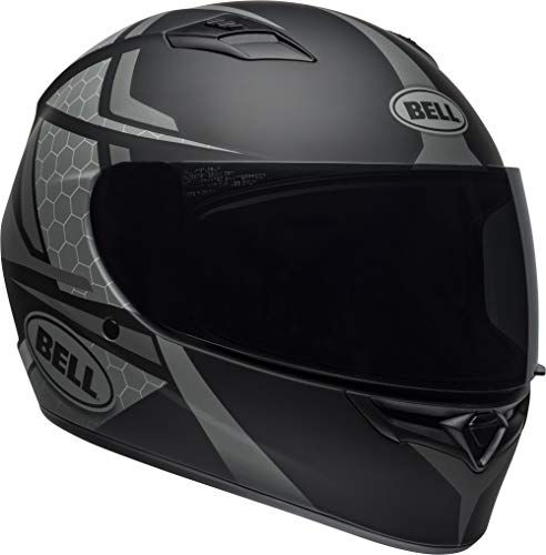 - Bell Qualifier Full-Face Motorcycle Helmet (Flare Matte Black/Gray, Large)