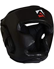 AQF Casco Boxeo para MMA Entrenamiento Casco Protector Muay Thai Kick Boxing Protección para Toda la Cara
