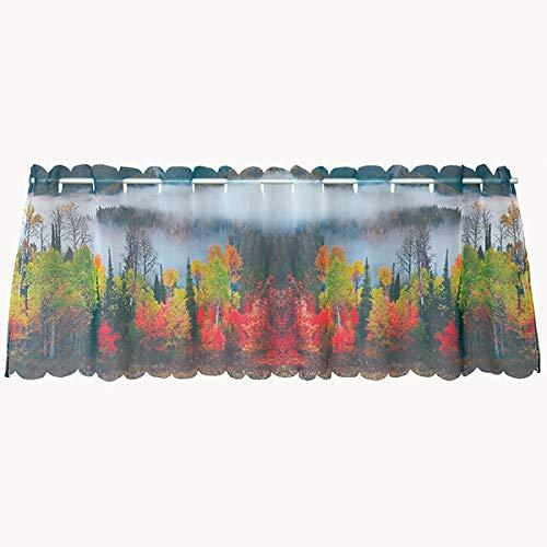 Berg mit See KAMACA Rideau Brise-bise avec Impression Photo Tendance Polyester 45x145 cm