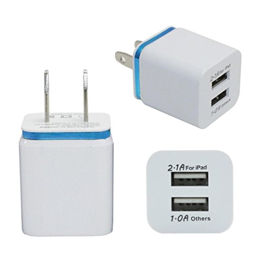 Price comparison product image Mchoice Home Travel Dual Port AC USB Wall Charger (Blue)