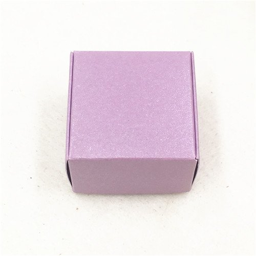 Ranggrgt 50Pcs 442.5Cm Aircraft Brown Gift Packaging Kraft Paper Packingbox Handmade Love Wedding\Crafts\Cake\Handmade Soap\Candy Boxes Purple 4x4x2.5cm ()