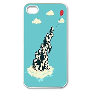 Penguin For Samsung Galaxy S6 Case Cover Funny Penguins Ballon Blue, For Samsung Galaxy S6 Case Cover For Teen Girls [White]