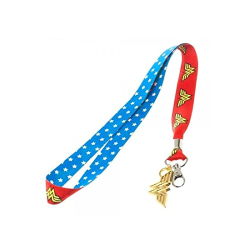 Wonder Woman Lanyard with Metal Badge and ID Holder