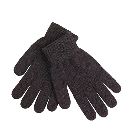 Veenajo Mens Solid Striped Wool Gloves, Solid Color Winter Thick Knit Gloves, Unisex, Stretchy - Palm Store Outlet Spring