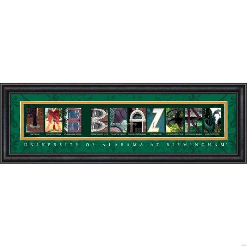 Prints Charming Letter Art Framed Print, U of Alabama Birmingham-Uab Blazers, Bold Color - Alabama Malls Birmingham