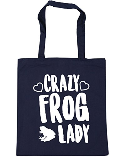 Navy HippoWarehouse x38cm French 10 frog litres Gym 42cm Beach Tote Shopping lady Bag Crazy Oa4qwO
