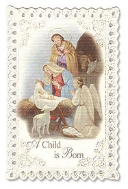 Nativity with Angel Christmas Lace Holy Card Punched Lace Cardstock &# Wx H Pack of 24