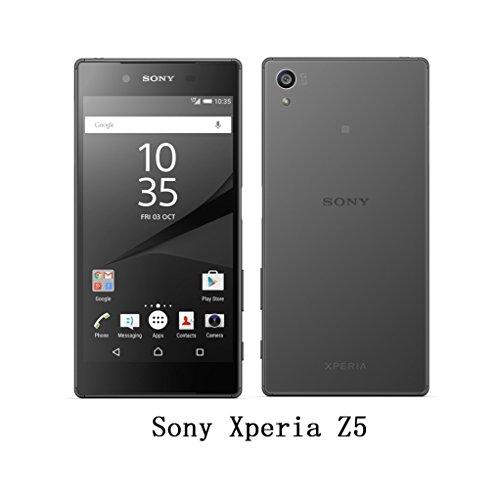 Trumpshop Smartphone Carcasa Funda Protección para Sony Xperia Z5 Premium + Blanco + Ultra Delgada Cuero Genuino Caja Protector con Función de Soporte Ranuras para Tarjetas Crédito Choque Absorción Púrpura
