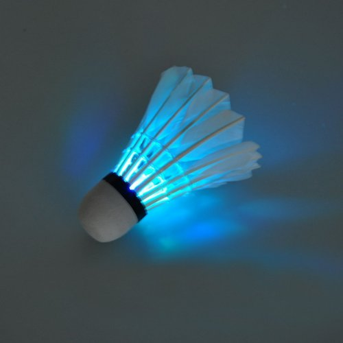 Neewer® A Box 4 Sport LED Badmintons Feather Shuttlecocks with Colorful Light Changing For Indoor Sports Activities