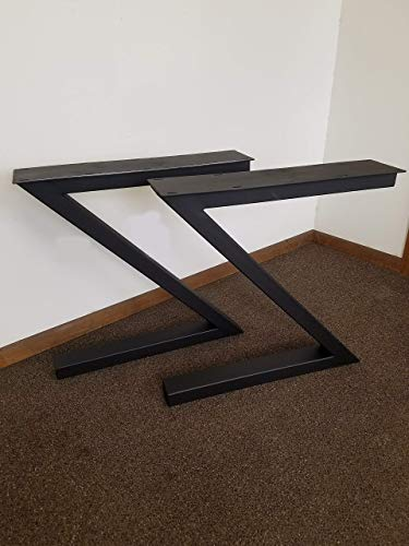 Metal Table Legs, Z-Shaped Style - Any Size and Color!
