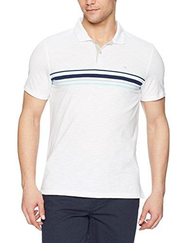 Calvin Klein Men's Short Sleeve Cotton Fashion Polo Shirt, Stained White, - Mens Cotton Liquid